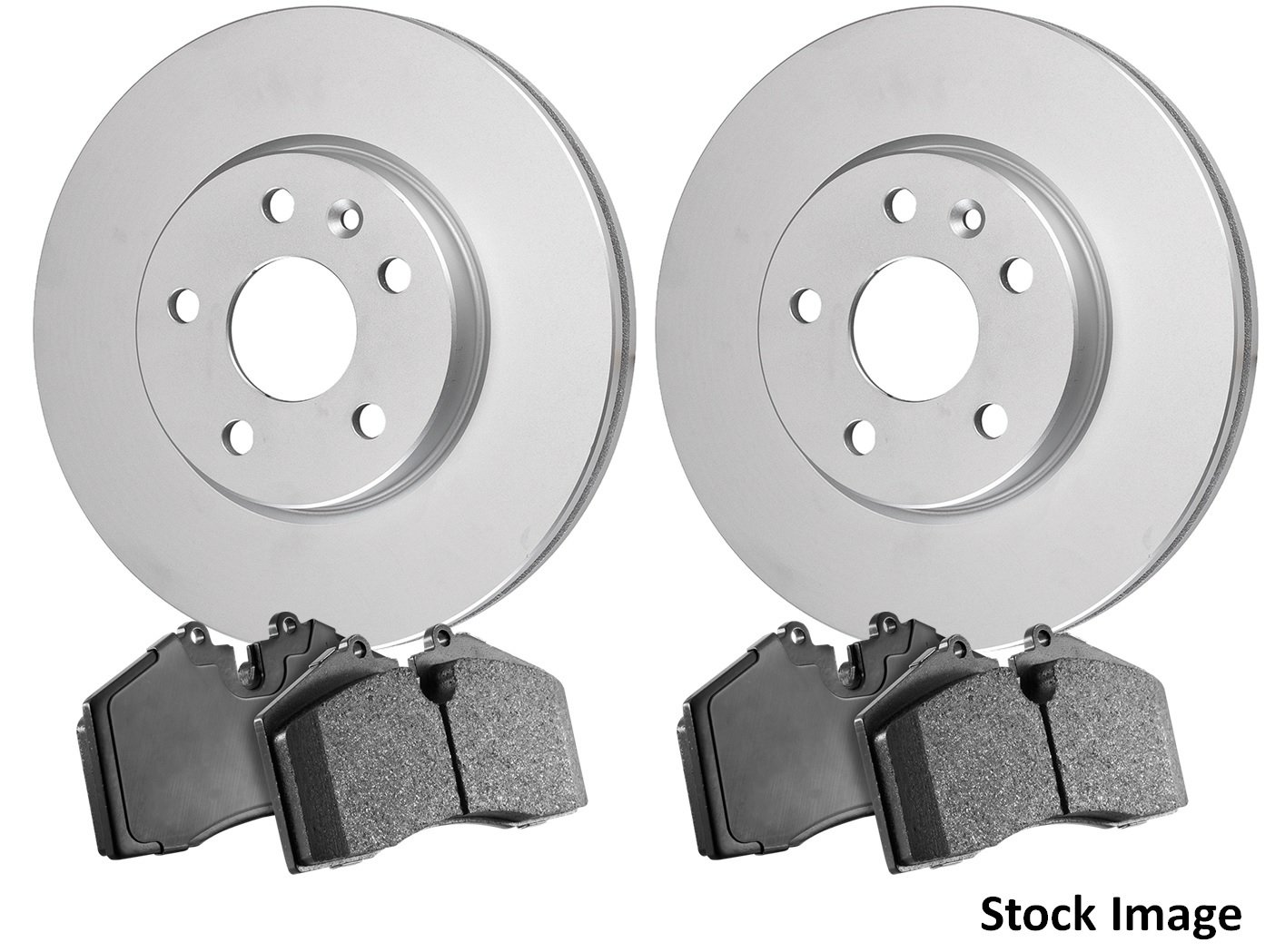 2006 For Buick Allure Front Anti Rust Coated Disc Brake Rotors and Ceramic Brake Pads