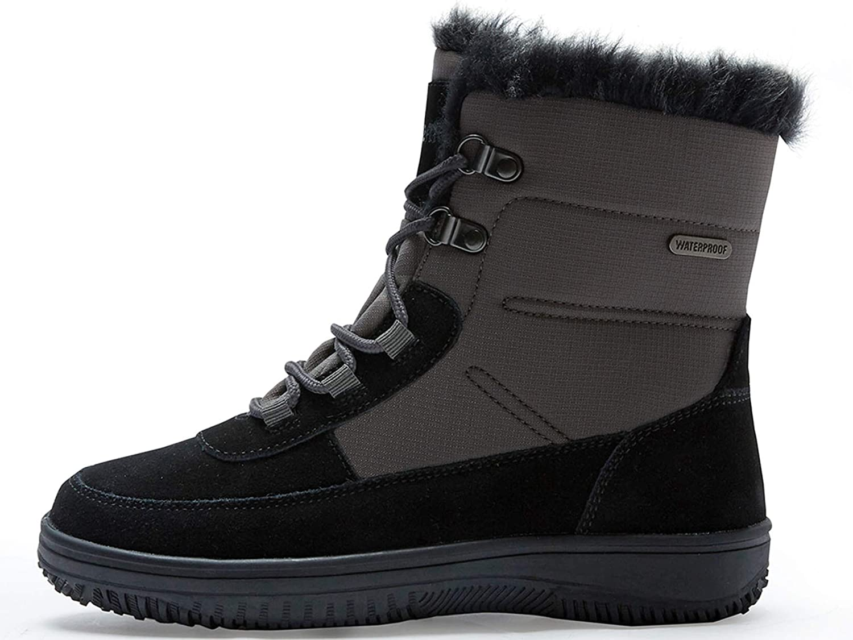 riemot Womens Snow Boots Full Waterproof Insulated Winter Boots