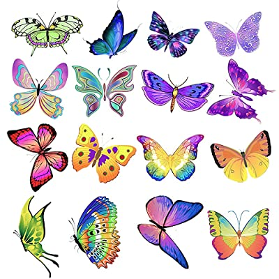 Butterfly Stickers For Water Bottles,50Pcs Vsco Laptop Stickers Aesthetic Trendy