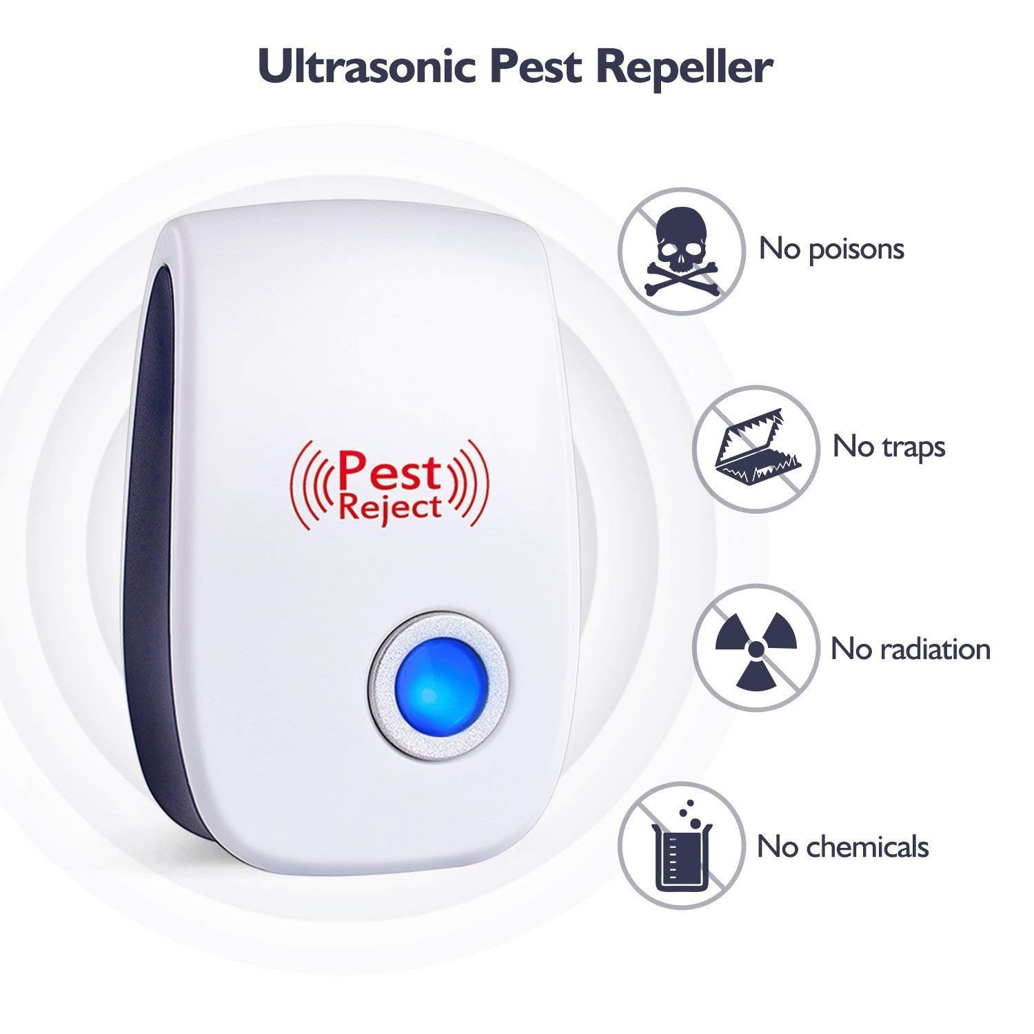 Pest Repeller Ultrasonic Electronic Insect Mosquitoes Rat Mosquito Circuits And Cockroaches Control Reject Garden Outdoors