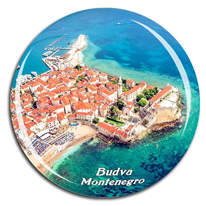 Weekino Ciudad Vieja Budva Montenegro Imán de Nevera 3D de Cristal ...