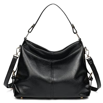 3c1058b270 Amazon.com: Hoxis Minimalist Glossy Soft Pu Leather Hobo Shoulder Handbag  Womens Everyday Tote Purse Medium Size (Black): Shoes