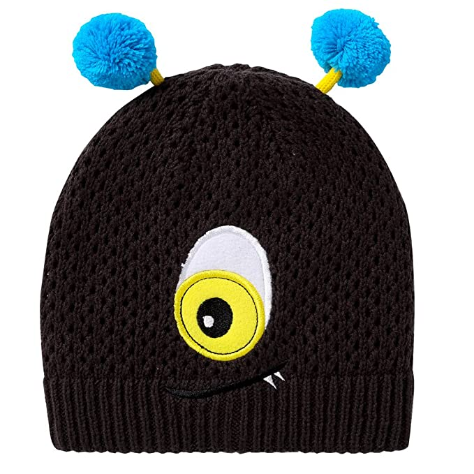 db3a2262ec4d25 E.mirreh Unisex Infant Toddler Baby Knitted Beanie Winter Hat Black For 12 -24