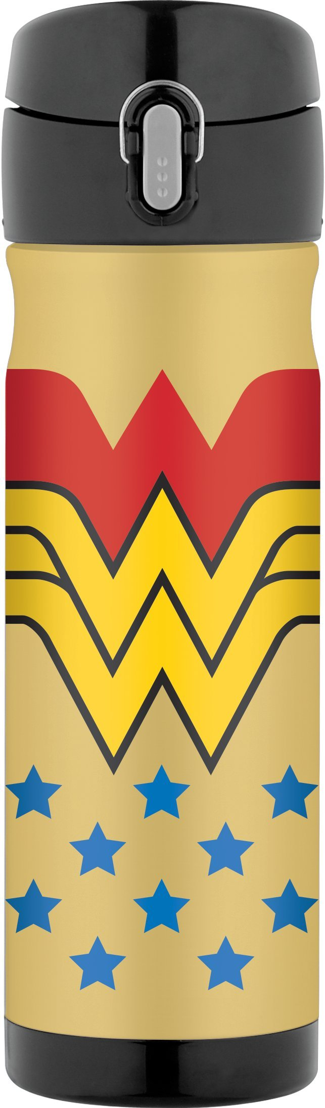 Thermos 16 Ounce Stainless Steel Commuter Bottle, Wonder Woman