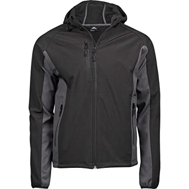 f29c9f28 Tee Jays Mens Lightweight Performance Hooded Soft Shell Jacket:  Amazon.co.uk: Clothing