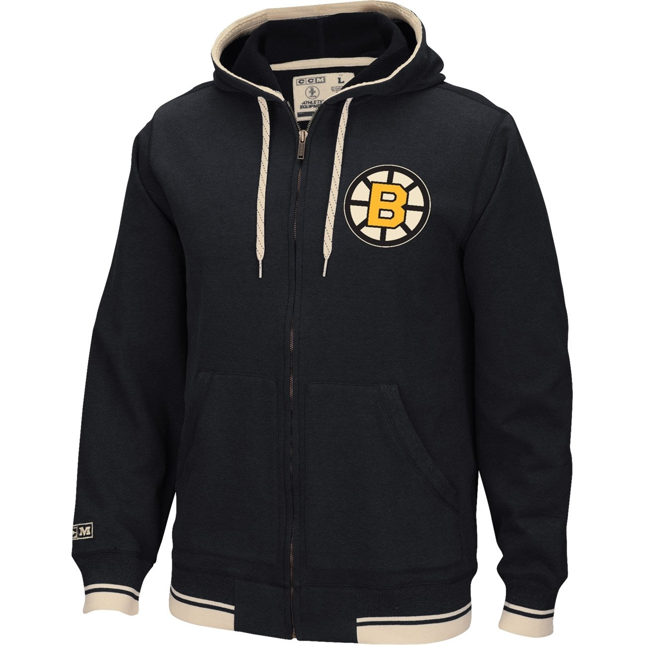 CCM Full Zip Hood Boston Bruins Größe:S