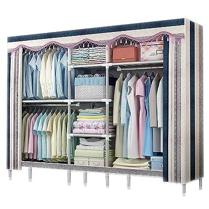 Amazon.com: AQAWAS Cloth Wardrobe Bedroom Storage, Shading Cloth ...