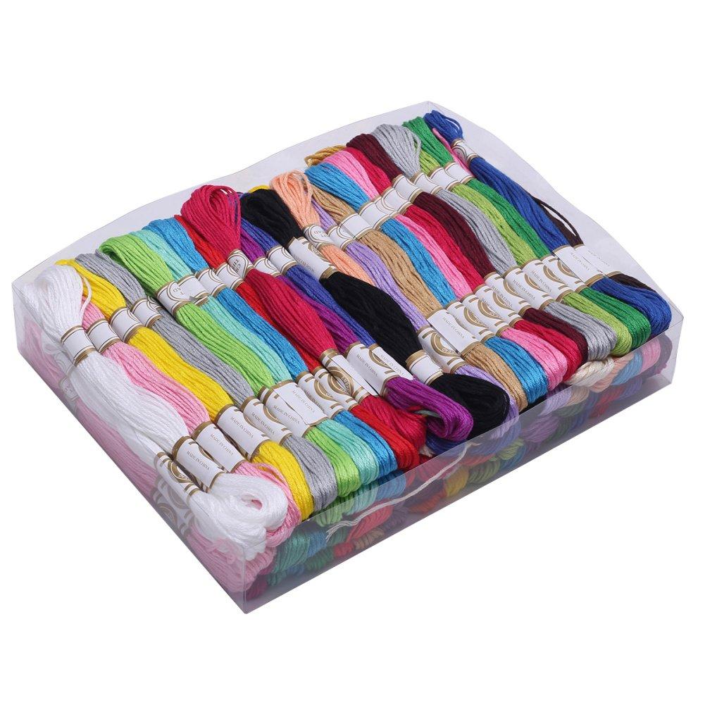 100 Madejas de Hilos bordar para Punto de Cruz Manualidades Bordado de Hilo: Amazon.es: Hogar