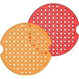 Forros de fritadeira a ar, 2 peças de forros reutilizáveis de silicone para fritadeira a ar, tapetes antiaderentes de 2,5 cm,