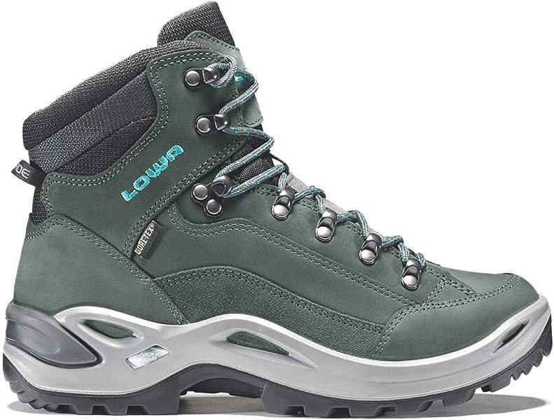 9cd09d2470b56b LOWA Renegade GTX Mid Women Outdoor Schuhe anthrazit-türkis - 37 ...