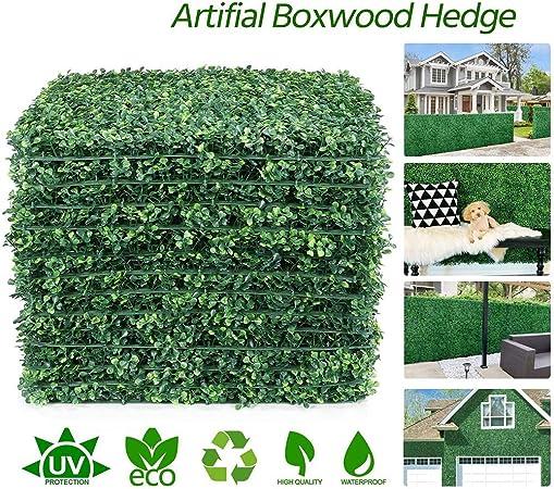 MAOJIE Cesped Artificial,Plantas de césped Artificial Paneles de césped Valla de Pared Jardín de casa Decoración de Fondo 40x60cm: Amazon.es: Hogar