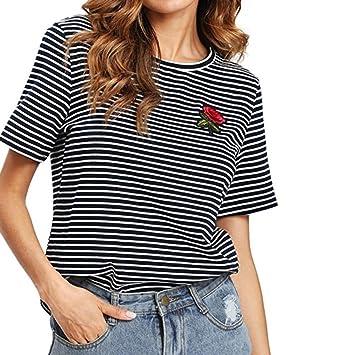 Camiseta con estampado de estrellas, LILICAT®, blusa casual, manga corta, moda