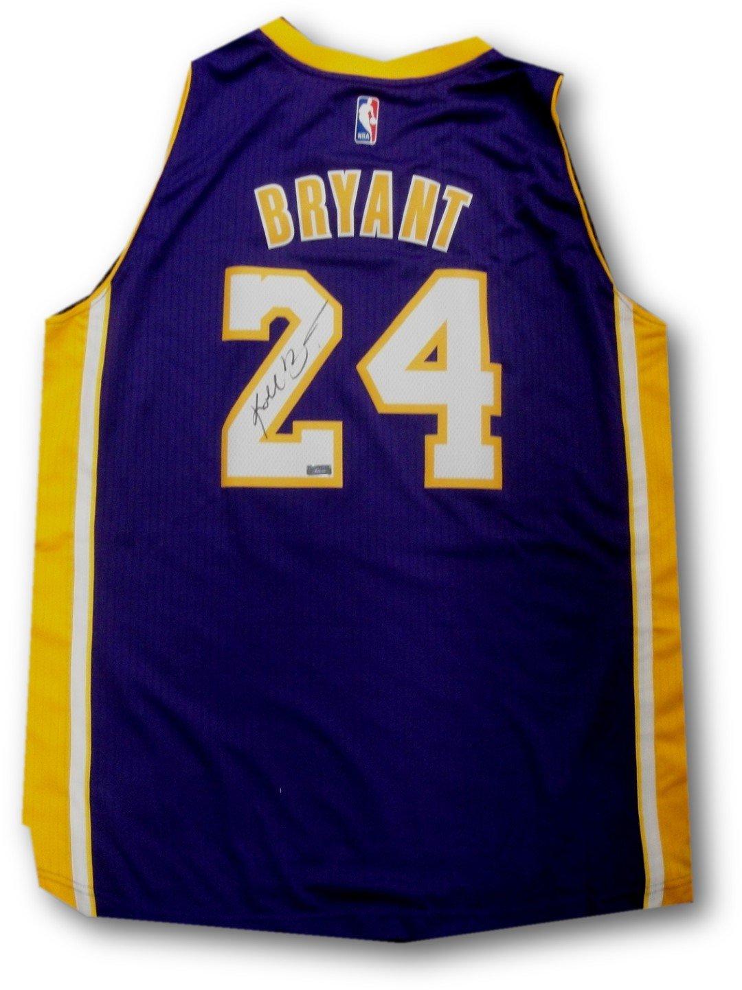 new style cfb62 40220 Kobe Bryant Hand Signed Autographed Swingman Jersey Purple ...