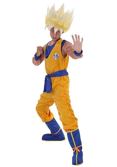 615f529d Amazon.com: Dragon Ball Z Child Anime Super Saiyan Goku Costume - M: Toys &  Games