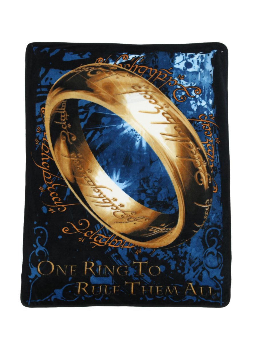 The Lord Of The Rings One Ring Throw Blanket – LOTR