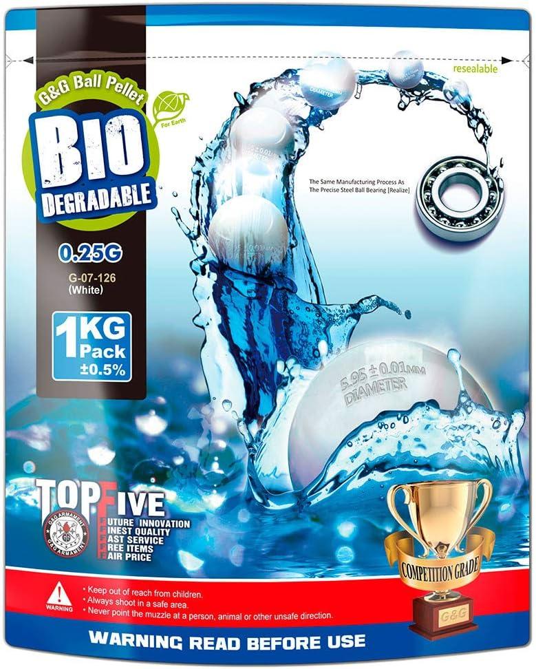 // G-07-126 White G/&G G/&G Bio BB 0.25g // 1KG Aluminum Foil