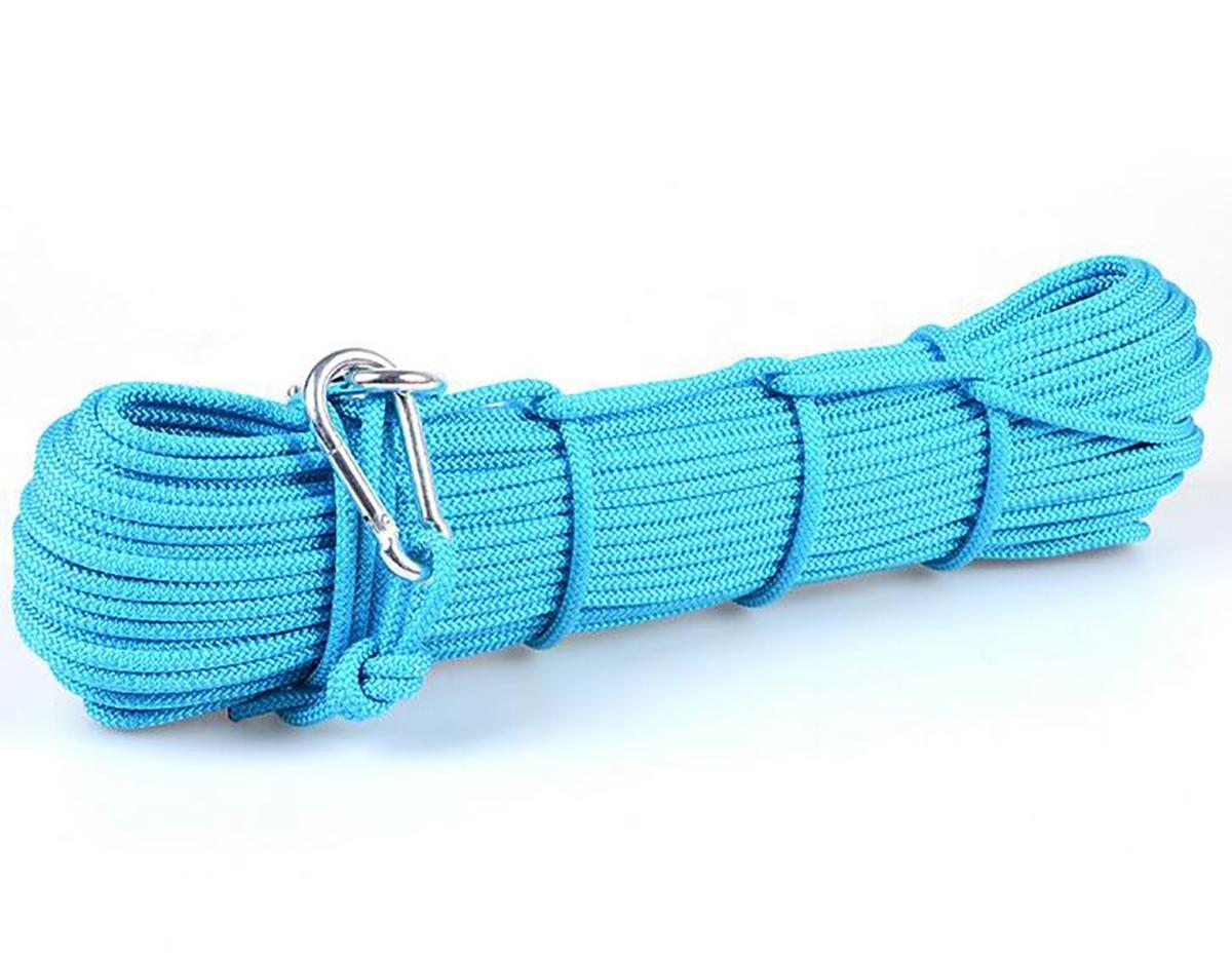 6 mmスタティックロープアウトドア登山ロープグラブデュポン B06XGDMMM7 30m ブルー ブルー 30m