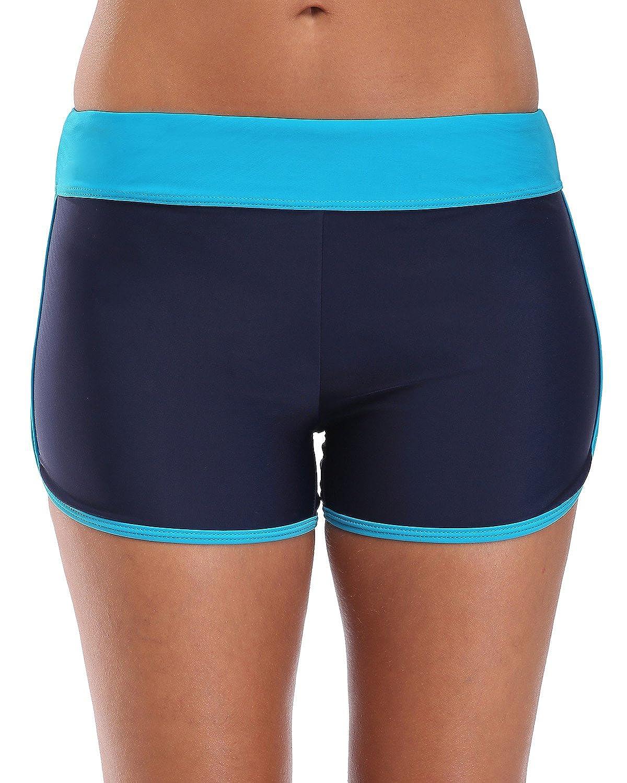 ATTRACO Ladies Swim Boardshorts Surf Board Shorts Boyshort Bikini Bottoms