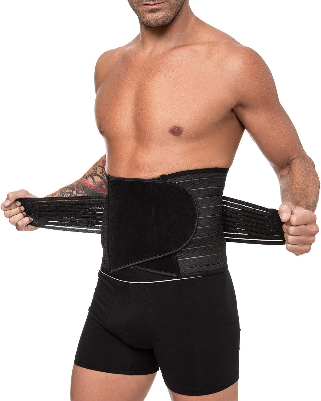 Channo Faja Cinturón Lumbar para Espalda Hombre y Mujer Doble Ajuste Fuerte