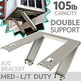 Universal Window AC Support - Air Conditioner Bracket - Support Air Conditioner Up to 105 lbs. - For 5000 BTU AC to 12000 BTU