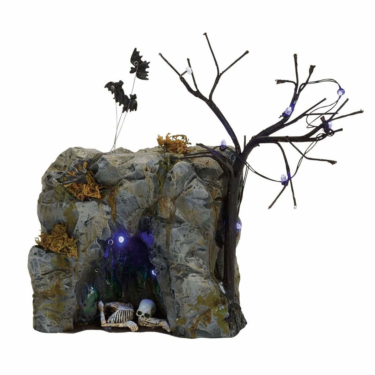 Department 56 Accessories for Villages Halloween Black Light Bat Cave Accessory Figurine