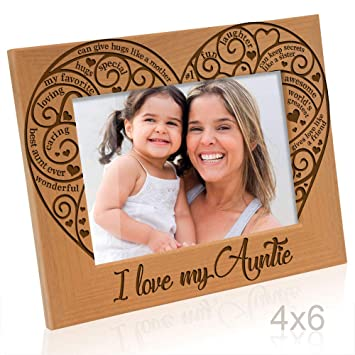 Amazoncom Kate Posh I Love My Auntie Engraved Natural Photo