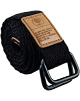 Moonsix Canvas Web Belts for Men,Military Style D-ring Belt Buckle Adjustable
