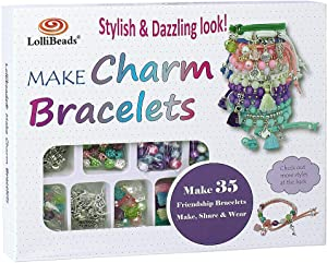 LolliBeads (TM) Make Charm Bracelets Kits 800 pcs Premium Bracelet Jewelry Making Kit Arts and Crafts for Girls Best Birthday/Christmas Gifts/Toys/DIY for Kids Friendship Bracelets Maker