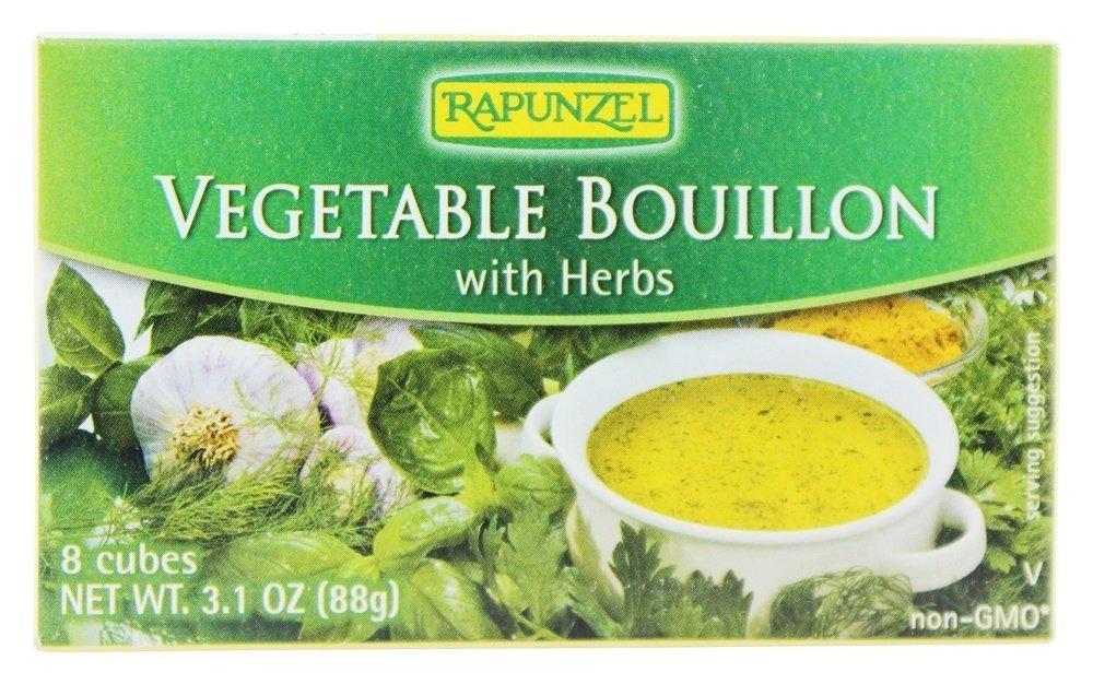 Rapunzel, Pure Organics Vegetable Bouillon with Sea Salt/Herbs, 3.10 oz