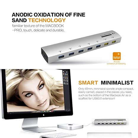Amazon.com: eDealMax 7 puertos USB 3.0 HUB de transferencia de datos súper velocidad Autorizado por Orico: Electronics
