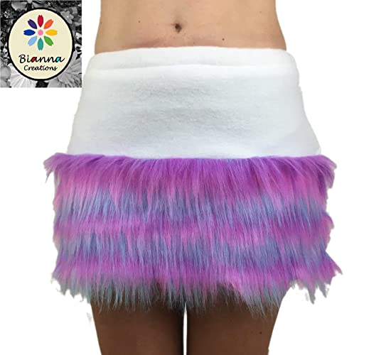 3da5110d9b Pink Blue Purple White Faux Fur Skirt, You choose size, For Kids and  Adults, Striped Soft Faux Fur and Fleece Rave Dress Up Outfit, Fluffies,  Handmade, ...