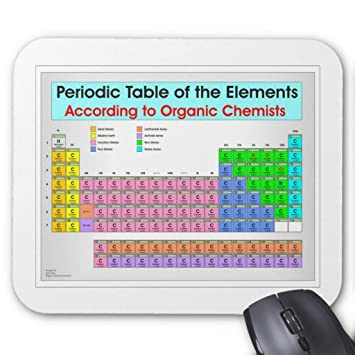 Amazon zazzle periodic table for organic chemists mouse pad zazzle periodic table for organic chemists mouse pad urtaz