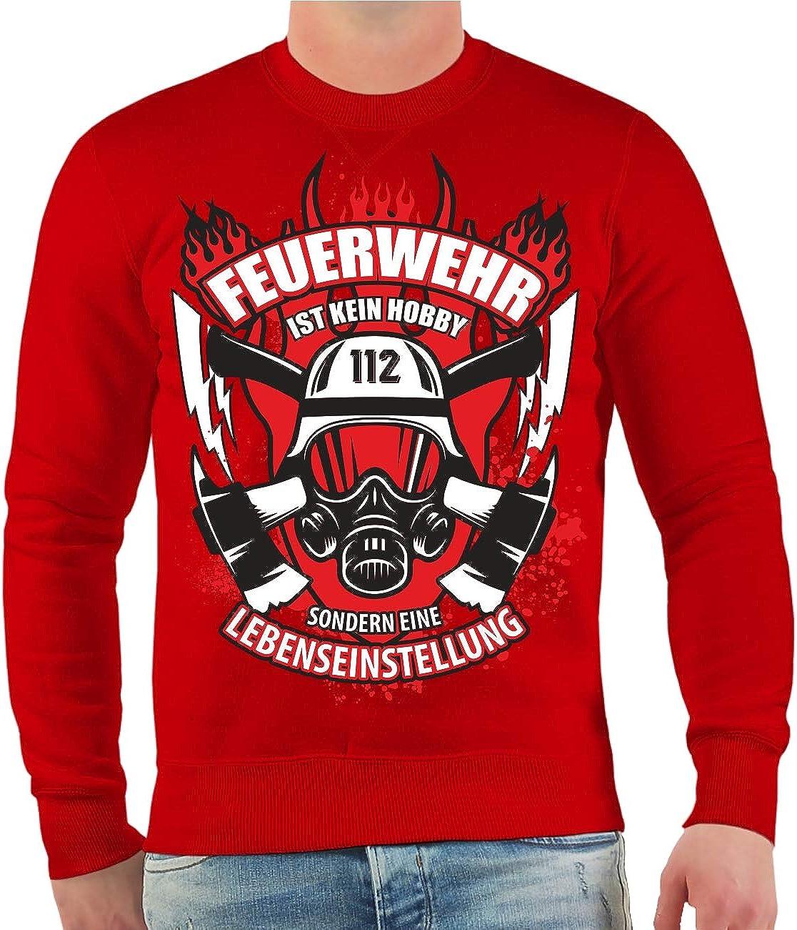 4XL Spa/ß kostet M/änner und Herren Pullover Feuerwehr ist eine Lebenseinstellung Gr/ö/ße S