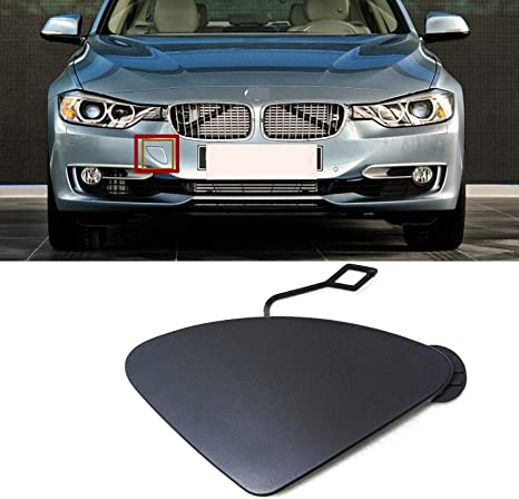 BMW E46 Coupe Front Bumper Tow Eye Hook Hole Cover Lid BLACK 8204288  T
