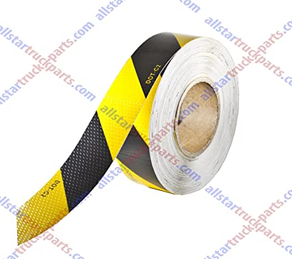 Vehicle Trailer Reflective Warning Safety Tape Sticker Roll Strip Self Adhesive
