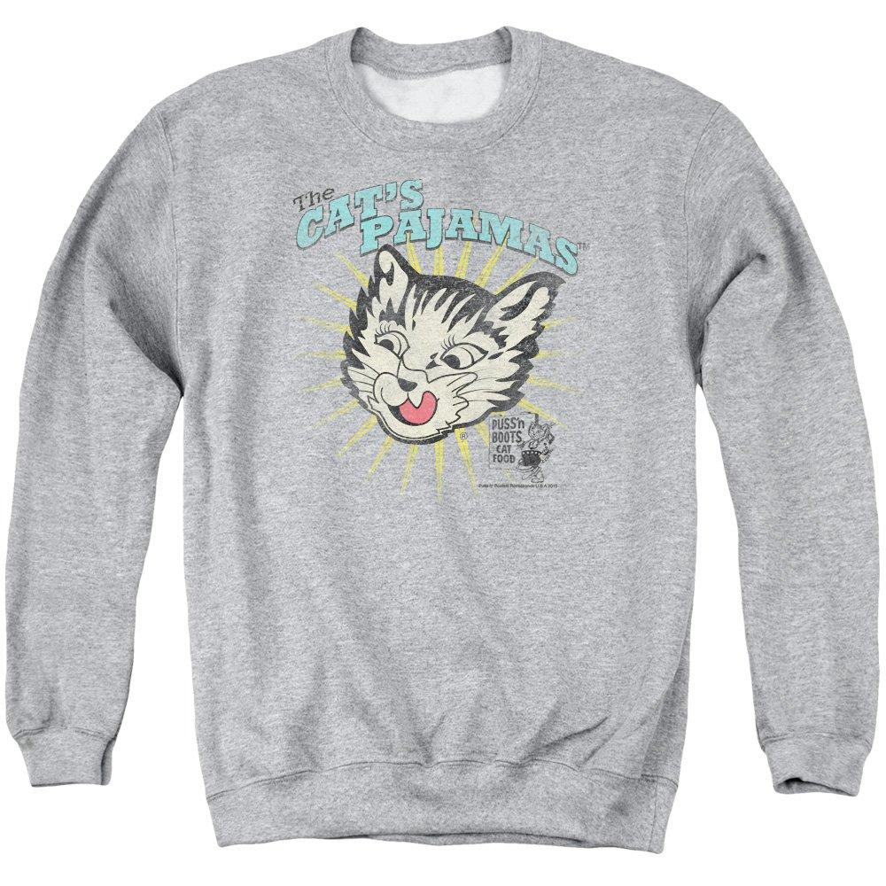 Puss N Boots Mens Cats Pajamas Sweater, Medium, Athletic Heather