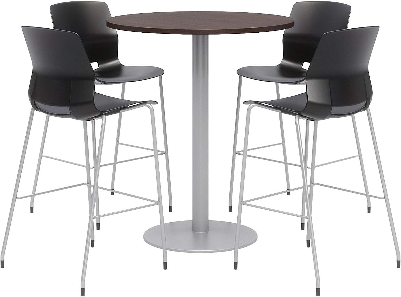 Olio Designs Dining Room Furniture, Espresso Table, Black Stools