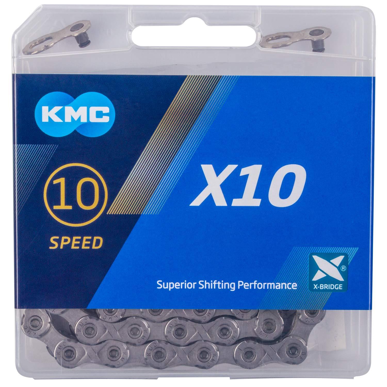 CADENA KMC X10 114 ESLABONES 10V GRIS