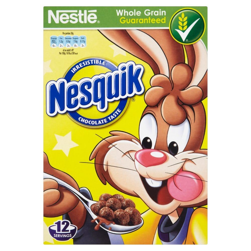 Amazon.com: Nestle Nesquik Chocolate Cereal - 375g - Pack of 2 ...
