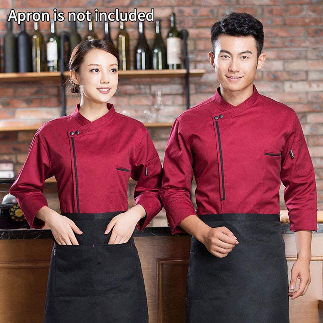 FREAHAP R Veste de Cuisine Manche Longue Unisexe Professionnel Blouse de Chef Manteau de Cuisinier