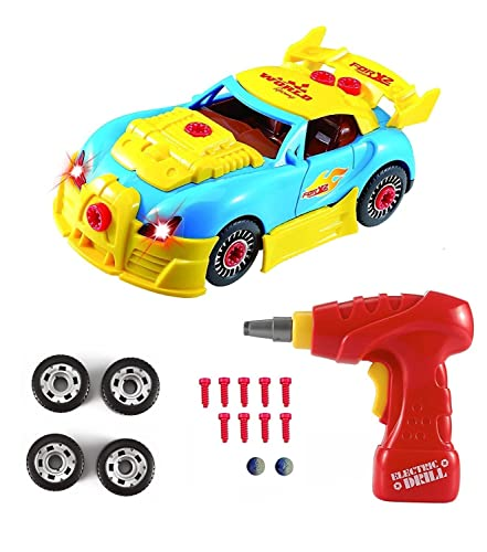 Take Apart Toy Race Car,CrossRace Construction Toy Kit For