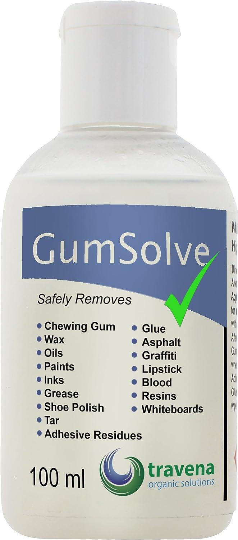 Removedor de la materia pegajosa GumSolve concentrado biológico 100 ml elimina las tintas, goma de mascar, adhesivo, alquitrán, sangre, etc libre de ...