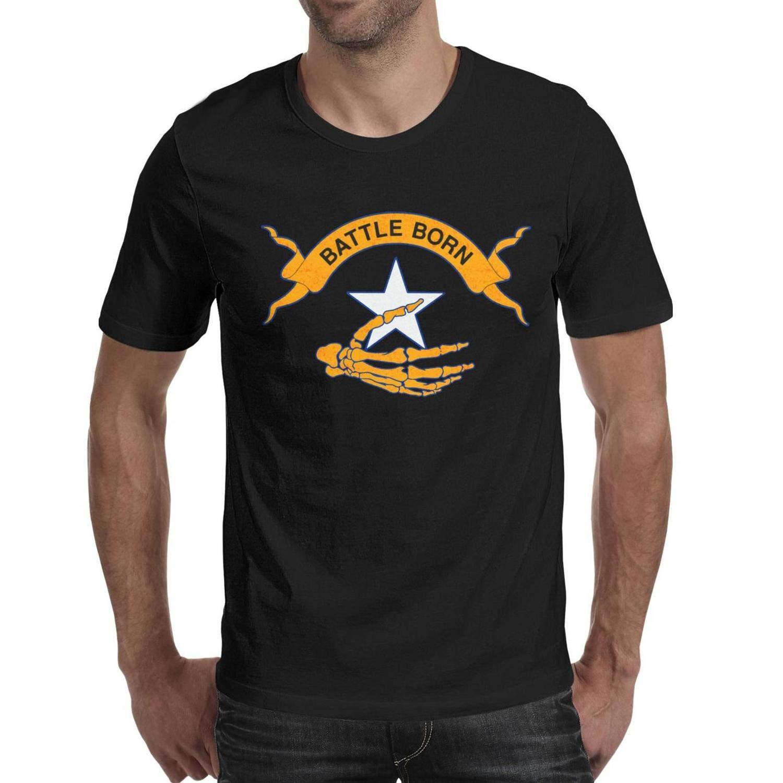 Crew Neck Short Sleeve Nevada State Skull Battle Born Star Ee Graphic Act Shirts