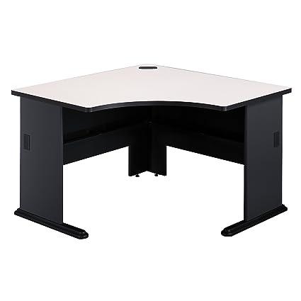 Bush Business Furniture Series A 48W Corner Desk In Slate And White Spectrum