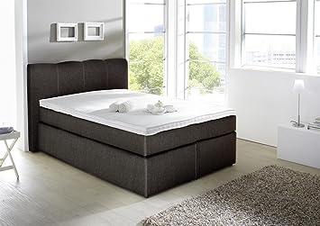 Kasper Wohndesign Box Spring Bed Sky 140 X 200 Cm Black Amazon Co