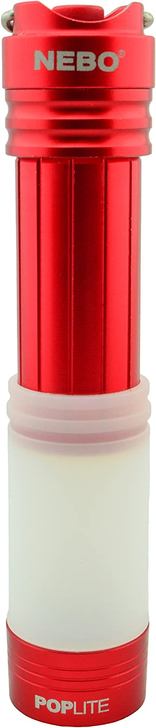 NEBO Poplite Keychain Compact Light Lantern Mini Flashlight That Fits in Your Pocket 6557 Red