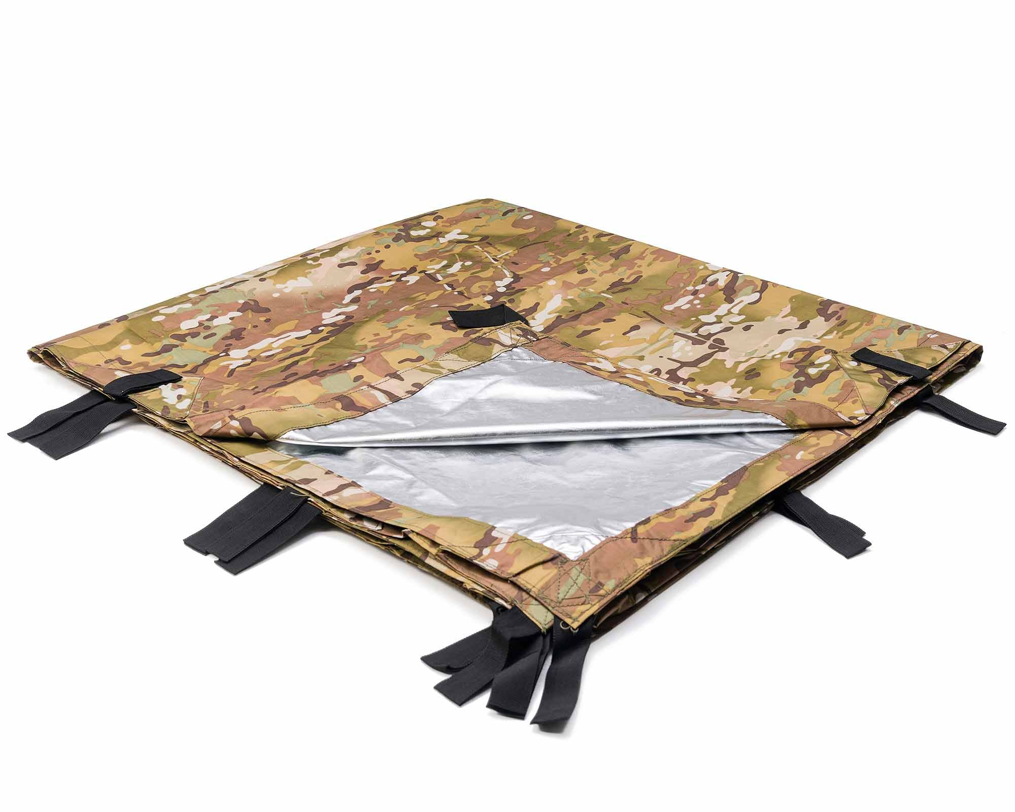 10' x 10' Thermal Reflective Water Proof Tarpaulin Shelter | Mongrel EDT By Arcadia Gear | Multi-Terrain Pattern Tarp Designed For When Your Life Depends On It