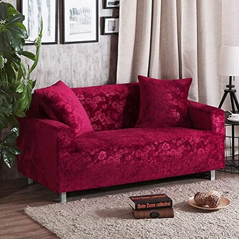 Amazon.com: SANDM Elasticity Non-Slip Sofa Cover with ...