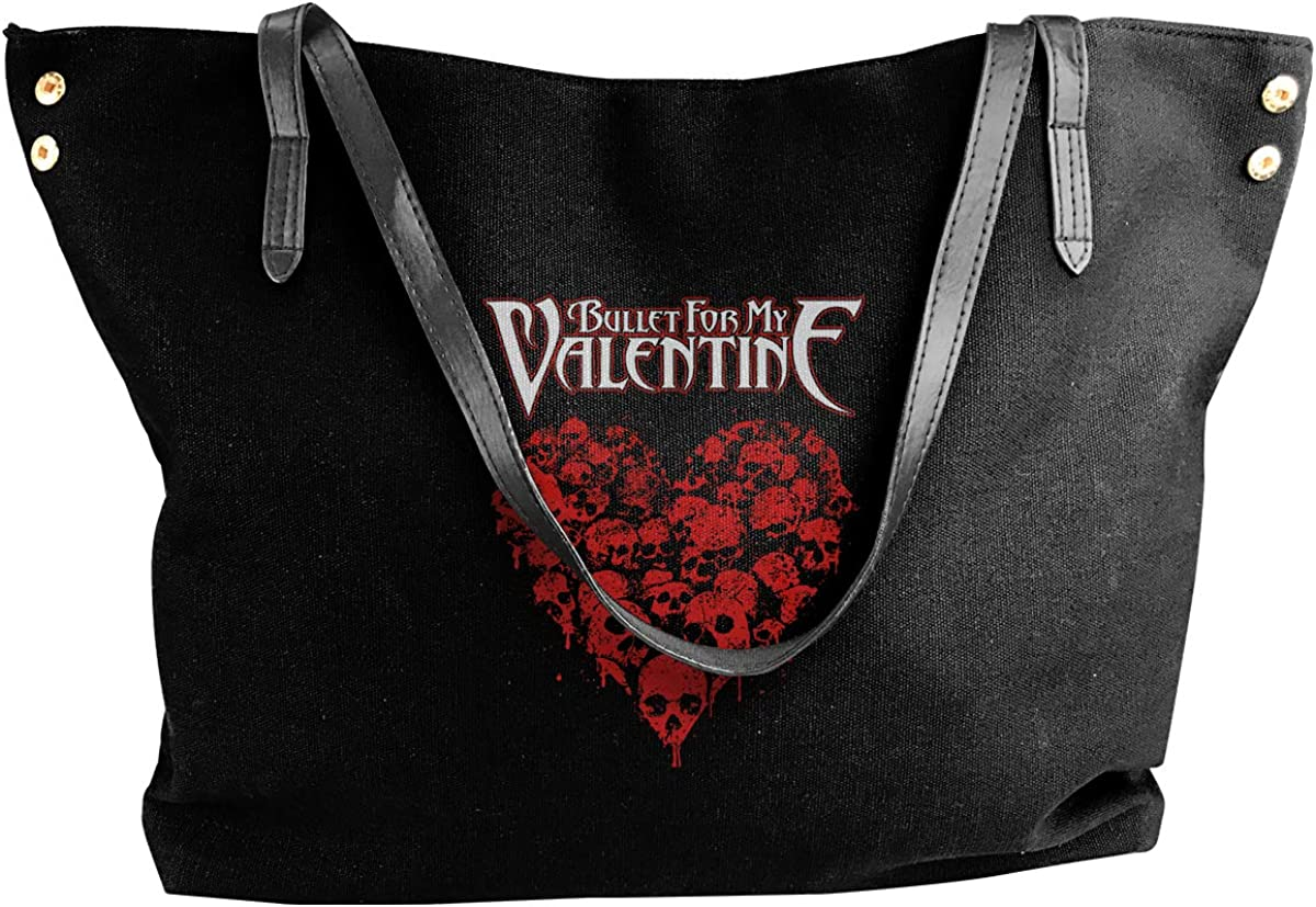 Bullet For My Valentine Womens Canvas Shoulder Bag Big Capacity Handbag Casual Shoulder Bag