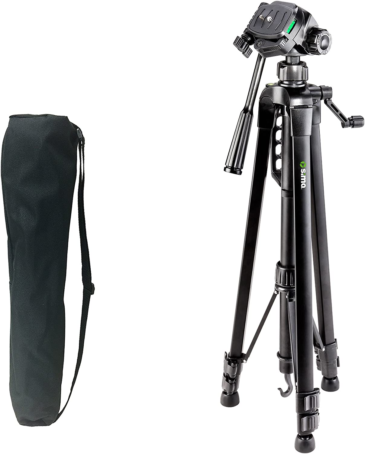 """Sima STV-66K 66"""" Pro Panorama Tripod includes Zippered Carry Bag with Carry Strap"""